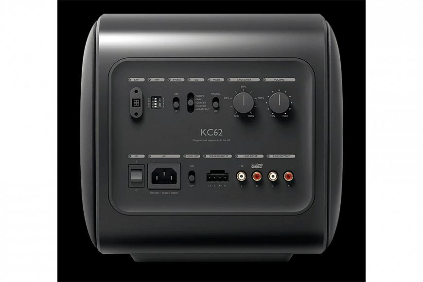 KEF KC62 - compact subwoofer with dual radiator Uni-Core