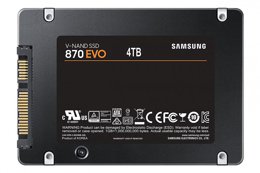 Samsung officially unveils SATA 870 EVO series SSDs