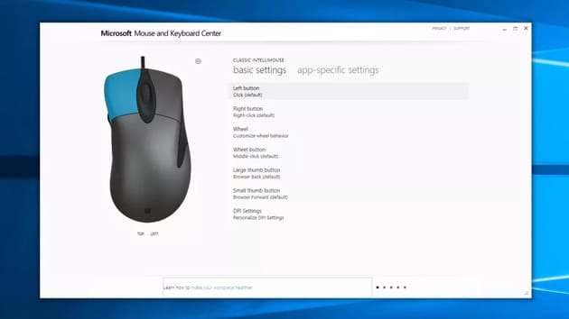 Configuring Microsoft Classic IntelliMouse