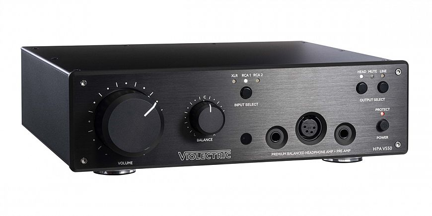 Violectric HPA V550 and HPA V550 PRO - headphone amplifiers with professional roots