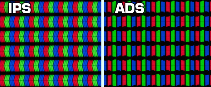 ADS vs IPS - structure
