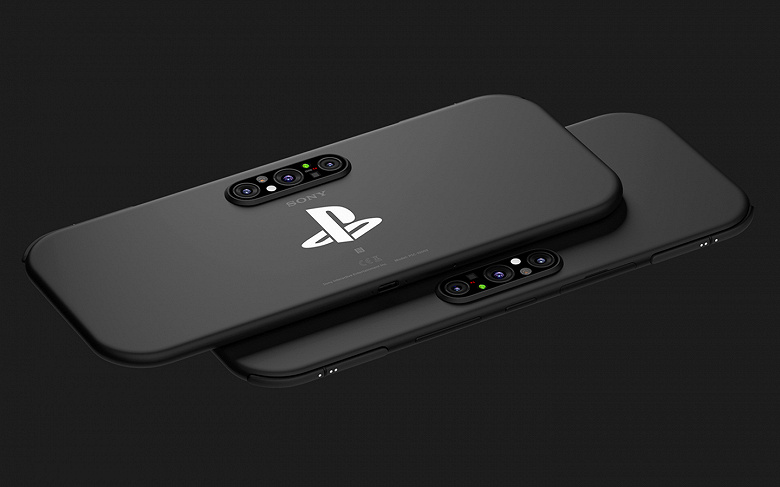 Handheld game console and Sony PlayStation smartphone in one device. Quality renders published
