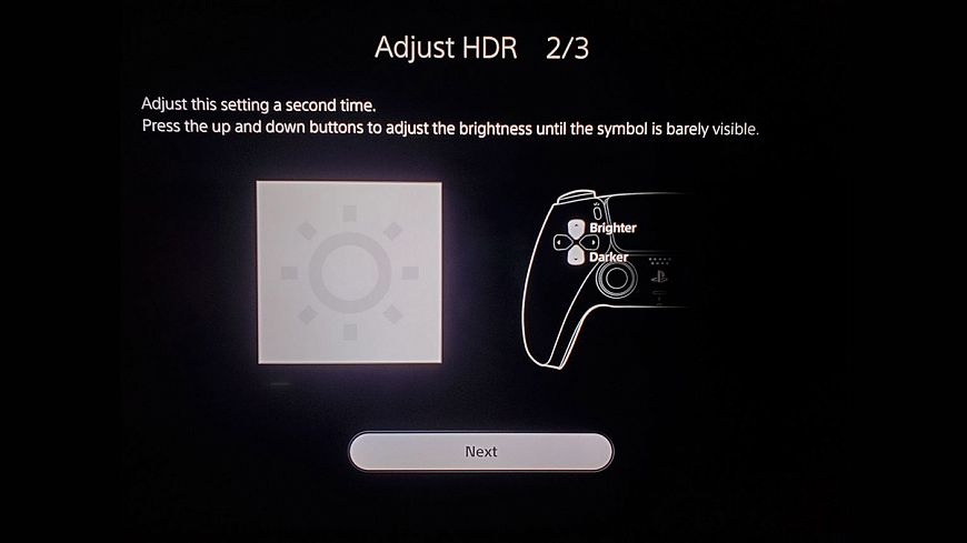 7. Calibrate the HDR image using the built-in Sony PlayStation 5 tables